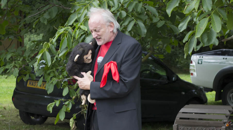 Micky and Mr Potty Monkey Outdoor Magic Event